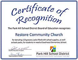 Park hill Award