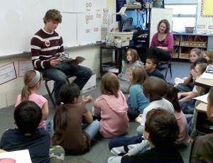 Jake at Judianns school2