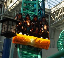 Jake Mitch Jesion on Coaster at Mall of America